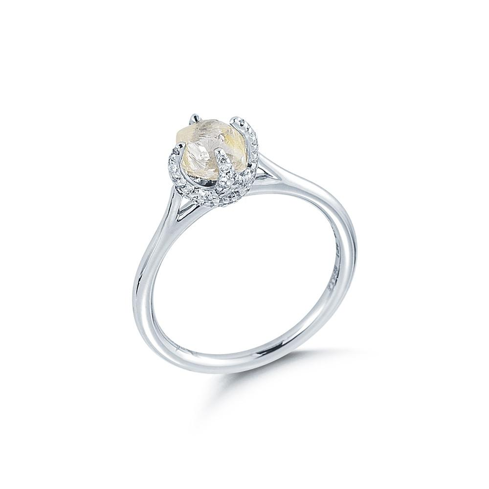 Signature Rough Diamond Engagement Ring 3D128-1.56