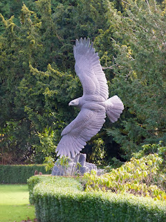 A Giant Statue Of A Bird Of Prey