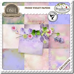 Digital scrapbook set the fresh violet paper