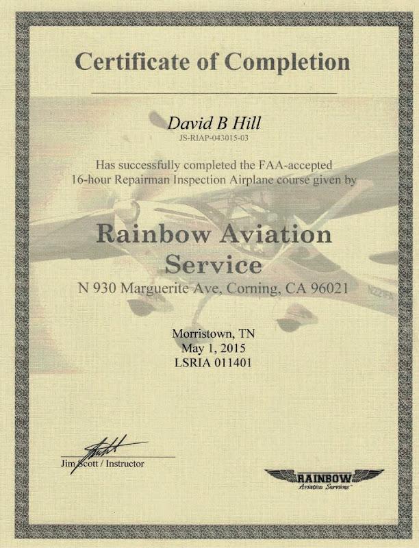Repairman Course Certificate