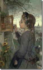 Jacob-Maris-Girl-feeding-her-Bird-in-a-Cage