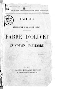 Cover of Papus's Book Fabre d'Olivet et Saint Yves D'Alveydre (1888,in French)