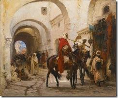Henri-Emilien-Rousseau_Cavaliers-au-bazaar-du-Caire-Egypte