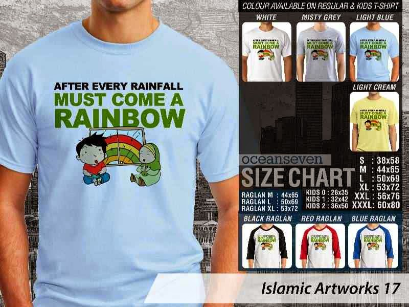 KAOS Muslim After every rainfall must come a rainbow. Islamic Artworks 17 distro ocean seven