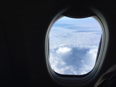 Sikten gjennom et flyvindu