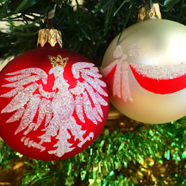 Polish Christmas  by Kamila Romanowska - Instagram & Mobile iPhone ( christmas, holidays, christmas tree, ornaments, polish, poland )