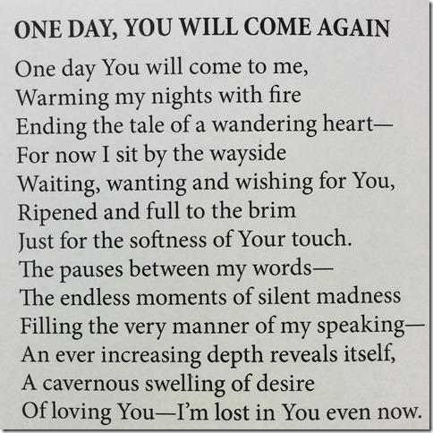 Poem Excerpt, 1