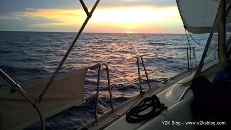 In navigazione verso la Sardegna -Tramonto