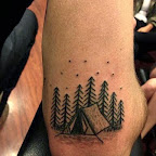 elbow tent - Landscape Tattoos