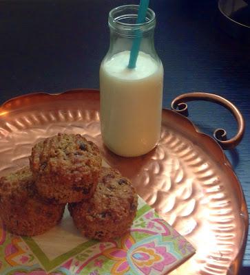 Muffiny śniadaniowe,otręby,daktyle,orzechy,śliwki suszone,maka pełnoziarnista