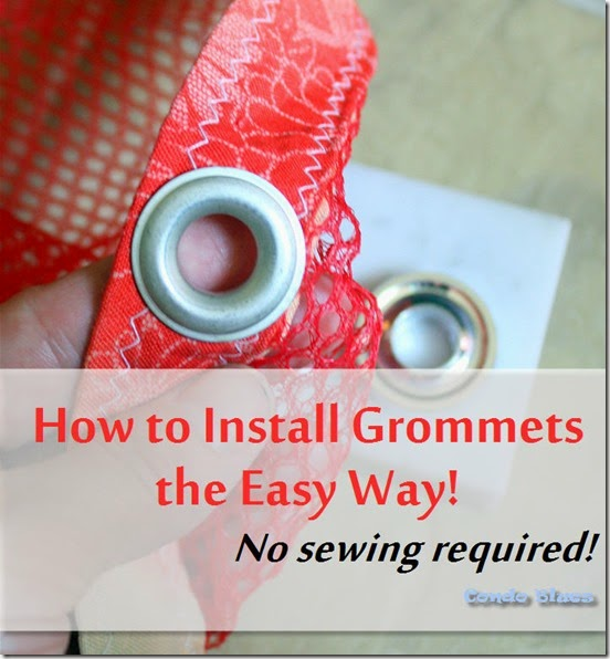how to install grommets without sewing