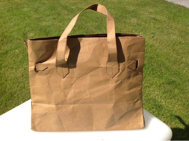 Papier Handtasche