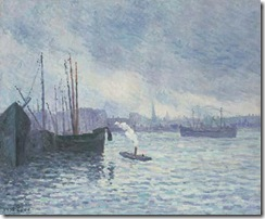 Maximilien-Luce-The-port-of-Rotterdam-1