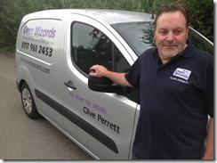 clive p with his van