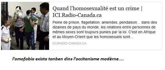 omofobia e occotanisme modèrne