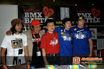 Press Conference [ Left to Right : Apep (Indonesian Judge), Danil (Indonesian BMX Association Chairman), Yudi (Wimcycle), Mike Ishizuka (Haro's Rider), Colin MacKay (Haro's Rider)