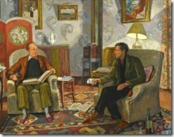 Vanessa Bell-Interior Scene, With Clive Bell And Duncan Grant Drinking Wine