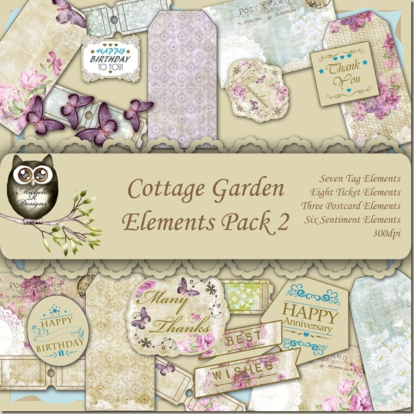 Cottage Garden Elements Front Sheet Pack 2