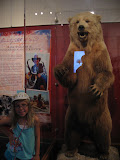 Hannah and a bear shot by Hank William's JR in the Country Music Hall of Fame in Nashville TN 09042011