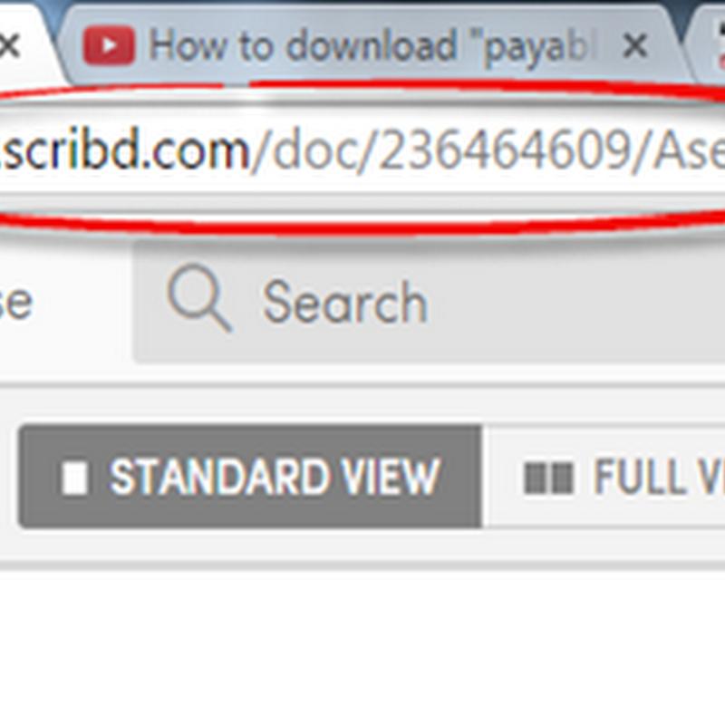 การบันทึกเอกสารจาก scribd ไม่ต้องสมัครสมาชิก