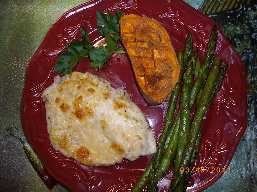 Parmesan Crusted Tilapia; Nancy Dingley