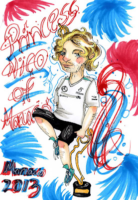 Нико Росберг - принцесса Монако 2013 - комикс Iikku