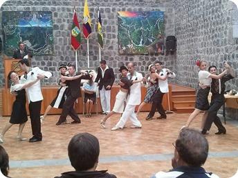 Nuestro tango fuertemente aplaudido en Ecuador