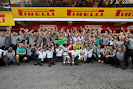 Mercedes F1 team celebration after finishing 1st & 2nd