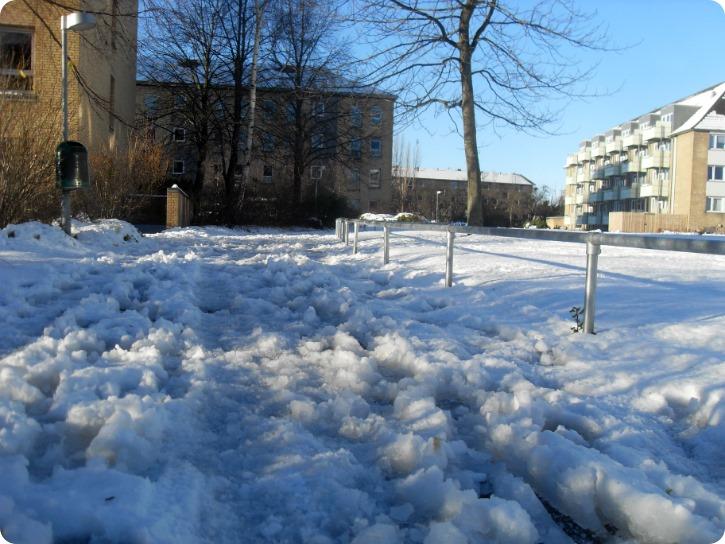Mandagens smukke snefald