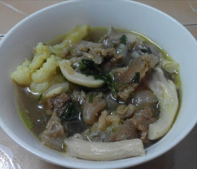 Resepi sup daging cendawan
