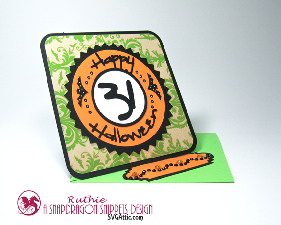 SnapDragon Snippets  - Halloween 31 Twisted Easel Card - Ruthie Lopez 3