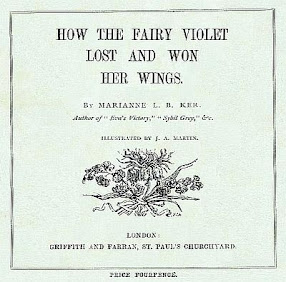 Cover of Marianne Ker's Book How The Fairy Violet Lost And Won Her Wings