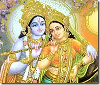 [Radha and Krishna in Vrindavana]