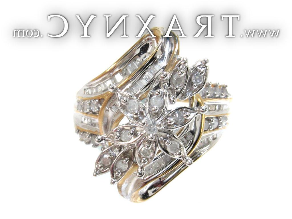 Picture for Yellow Gold Round Princess Cut Prong Channel Diamond Ring