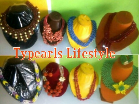 typearls Beads in different colours and designs