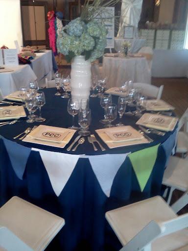 ivory black wedding table
