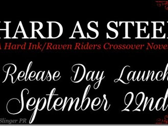 New Release: Hard As Steel (A Hard Ink/Raven Riders Crossover Novella) by Laura Kaye + Excerpt and GIVEAWAY