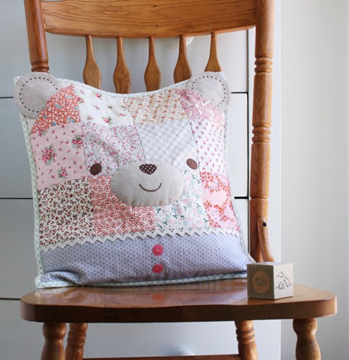 Sweetly Stitched Handmades - Bear Pillow