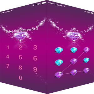 AppLock Theme Red Diamond