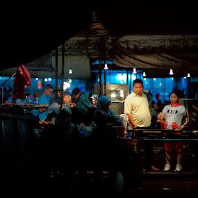 Pasar Malam Gadong by Mohamad Sa'at Haji Mokim - City,  Street & Park  Markets & Shops
