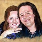 Nathalie et John, pastel sec, 16 x 20 po.