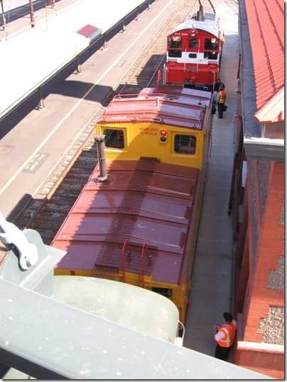 IMG_2872 Union Pacific CA-4 Caboose #25198 at Union Station in Portland, Oregon on May 8, 2010