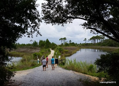 Walkway to the beach at Camp Helen