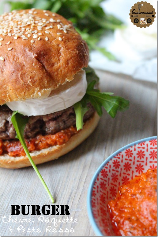 Burger Chèvre Roquette & Pesto Rosso 5
