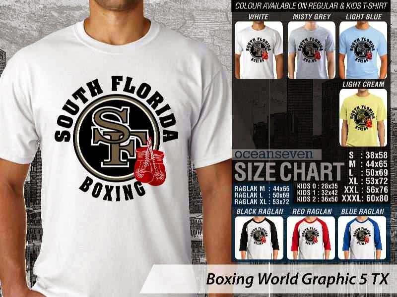 Kaos Olah Raga Sport Boxing World Graphic 5 distro ocean seven
