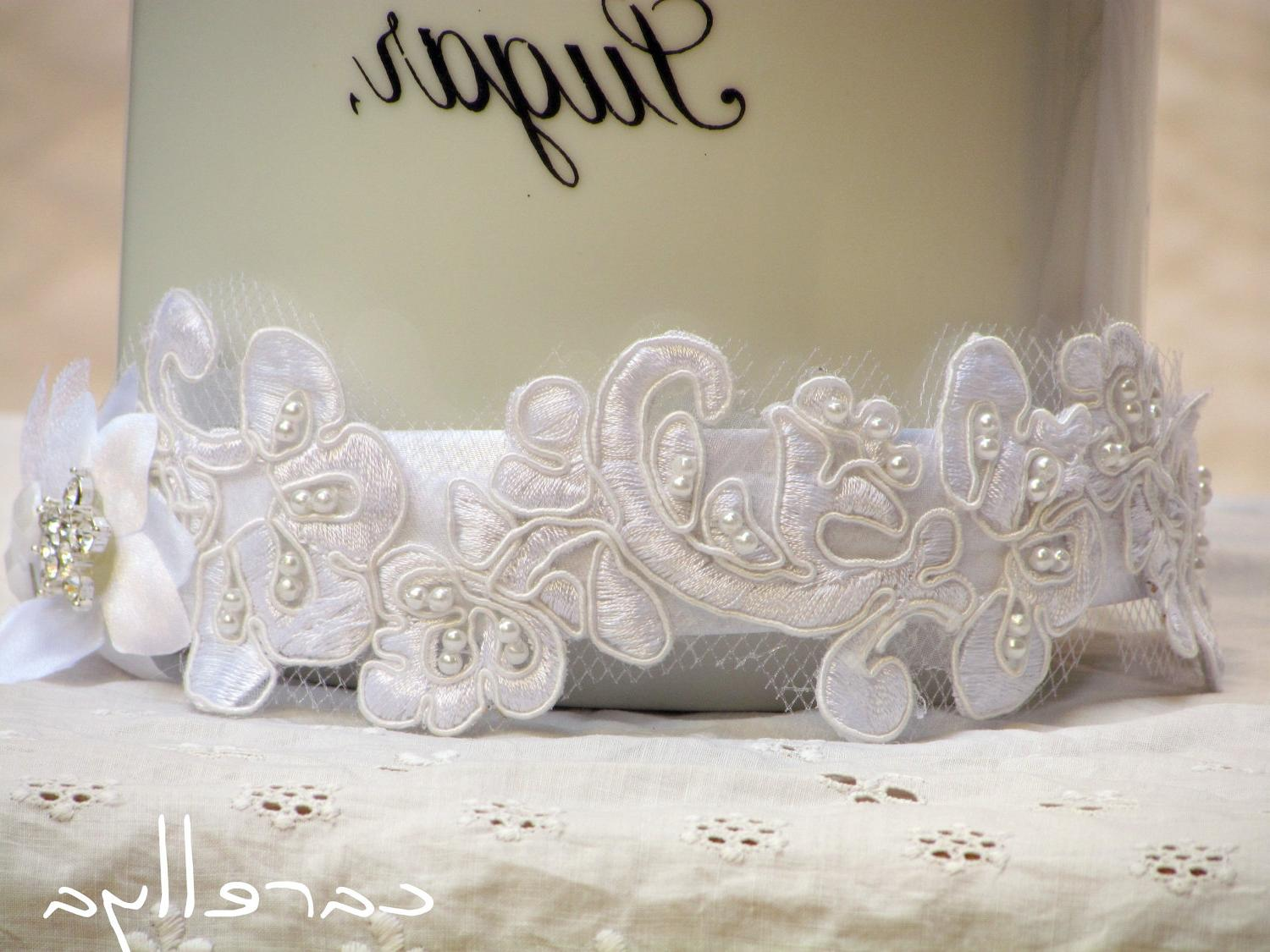 Bridal Lace Headband - White