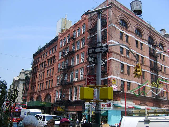 typical American architecture in Manhattan, New York City in New York City, New York, United States