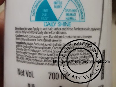 Dove Damage therapy Daily Shine Shampoo 5.JPG