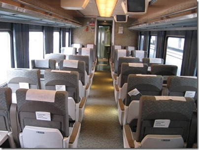 IMG_0706 Amtrak Cascades Talgo Pendular Series VI Coach Class Interior at Union Station in Portland, Oregon on May 10, 2008