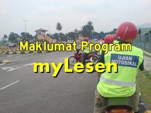 maklumat info program myLesen motosikal